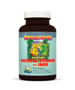 «Витазаврики» жевательные витамины с железом НСП