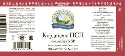 Кордицепс НСП Cordyceps NSP