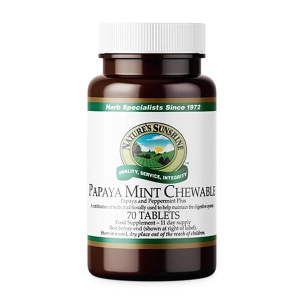 Папайя с мятой жевательная НСП Papaya Mint Chewable NSP (Англия) [485]