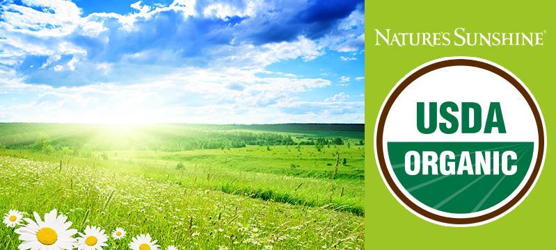 Nature's Sunshine - обладатель Organic Certificate